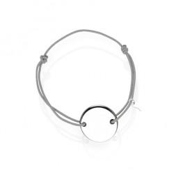 Silver medal bracelet personalized woman