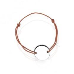 Bracelet médaille argent personnalisé femme