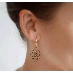 Boucles oreilles dorées losange