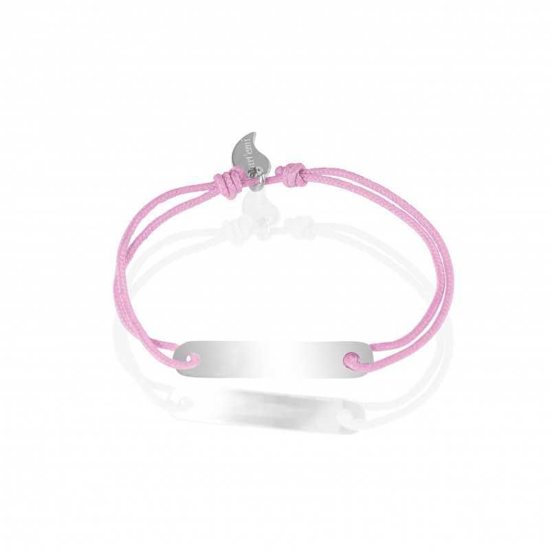 Silver ID bracelet personalized woman