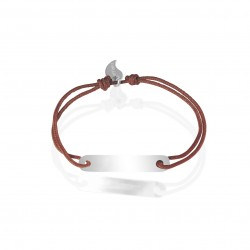 Silver ID bracelet personalized woman