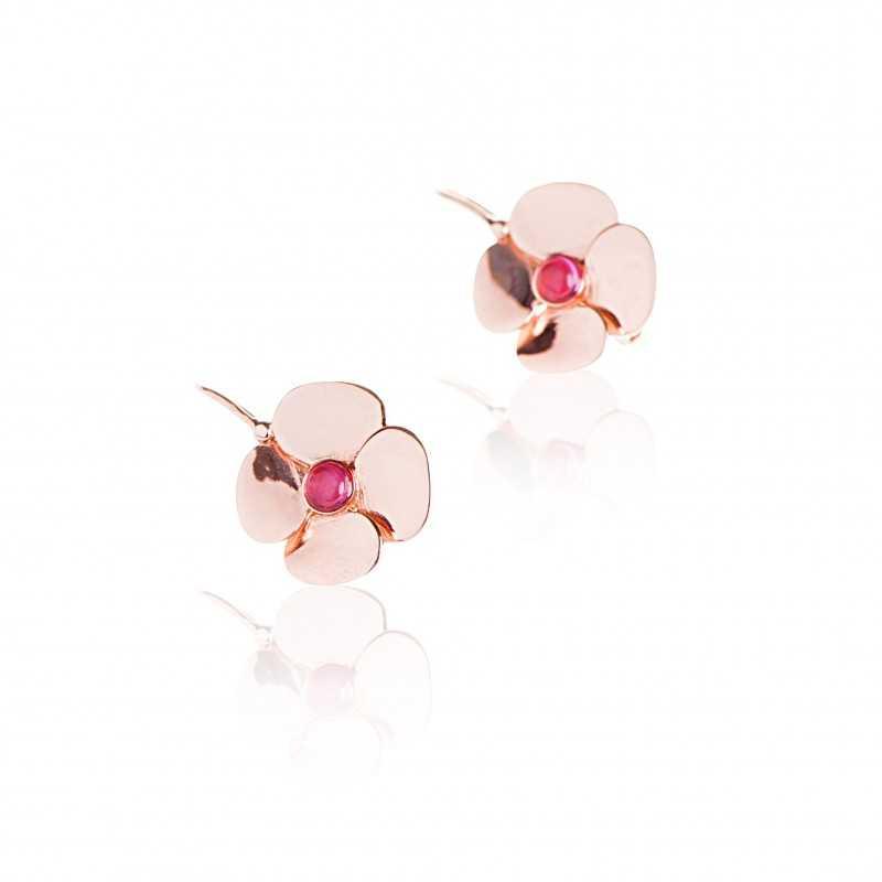 Boucles d'oreilles Fleur Tourmaline