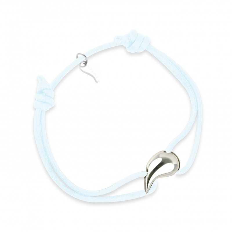 Silver drop bracelet man