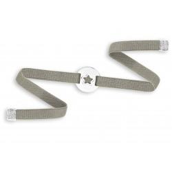 Bracelet élastique médaille étoile argent