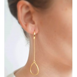Hanging drop air earrings
