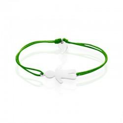 Gepersonaliseerde armband van het karakterband van de vrouwenjongen