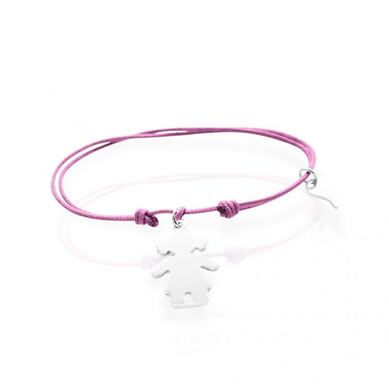 Bracelet charm character girl character personalized woman