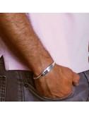 Bracelet esclave argent personnalisé homme
