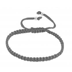 Bracelet élastique bleu médaille fille argent