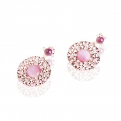 Round dripstone earrings