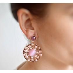 Boucles d'oreilles rondes élégance