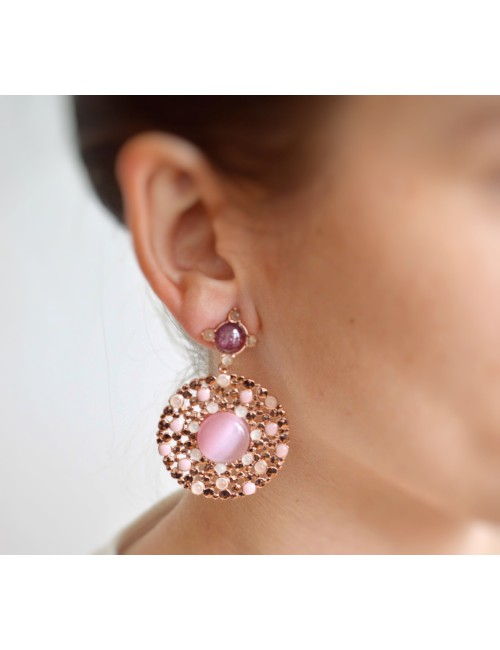 Round dripstone earrings