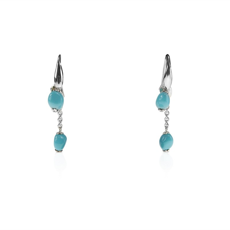 Hanging drop turquoise earrings