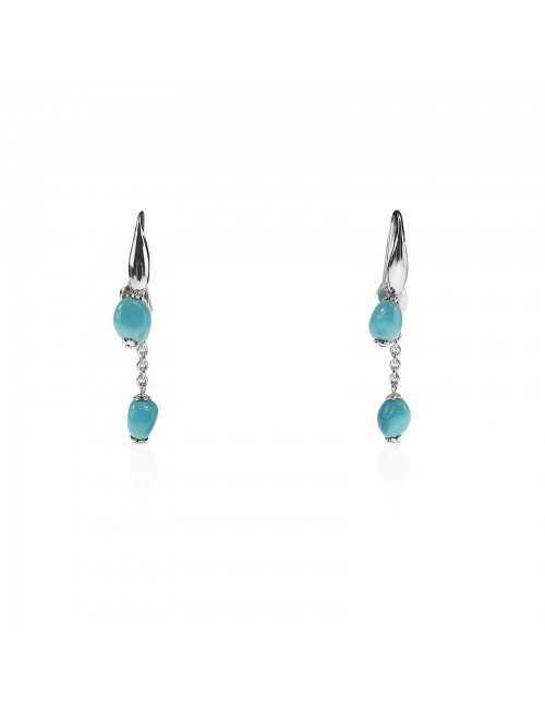 Hanging drop turquoise earrings