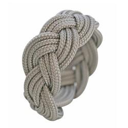 Bracelet élastique médaille coeur argent