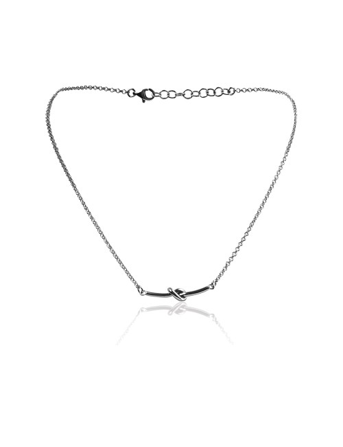 Silver knot necklace woman