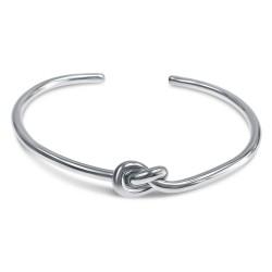 Bracelet noeud argent femme