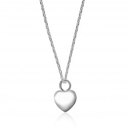 Silver heart necklace woman