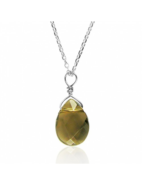 Quartz drop necklace woman