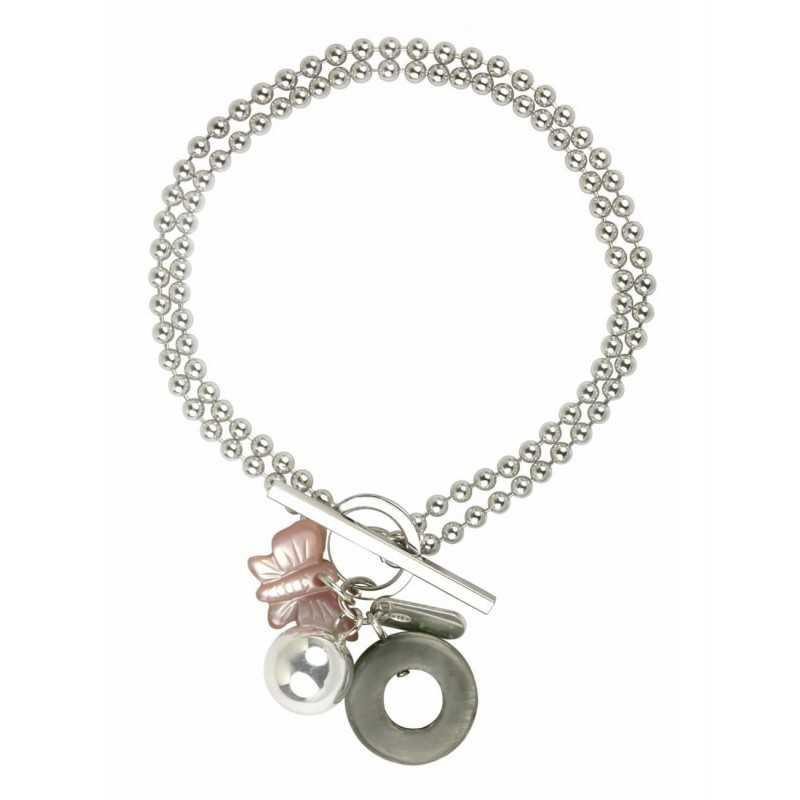 Double butterfly bracelet woman