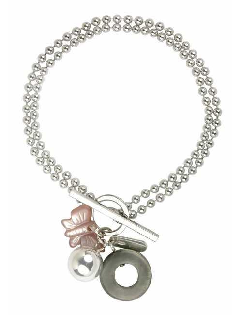 Bracelet double papillon femme