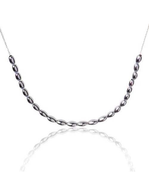 Collier perles argent femme