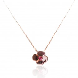 Flower tourmaline necklace