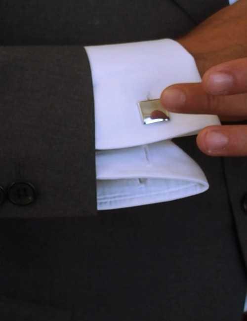 Men's personalized square cufflinks