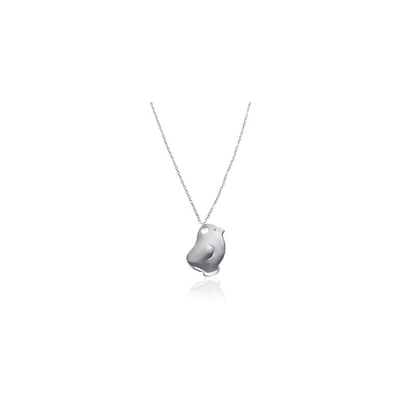 Silver chick necklace child