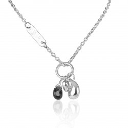 Necklace heart drop silver personalized woman