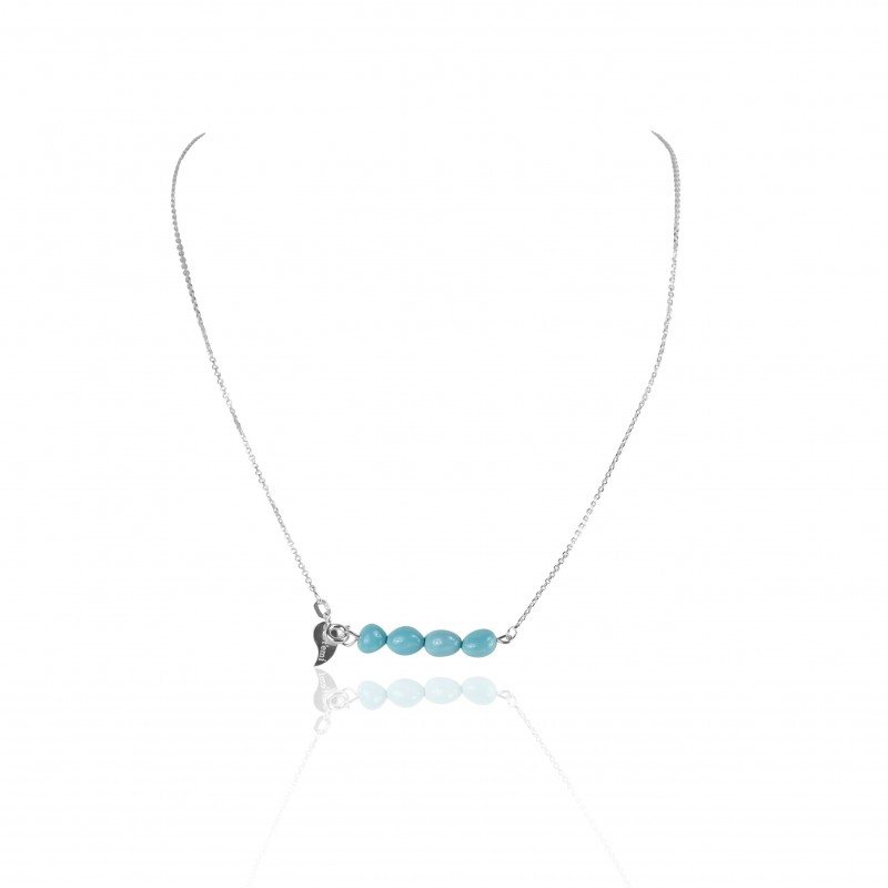Collier barrette turquoise