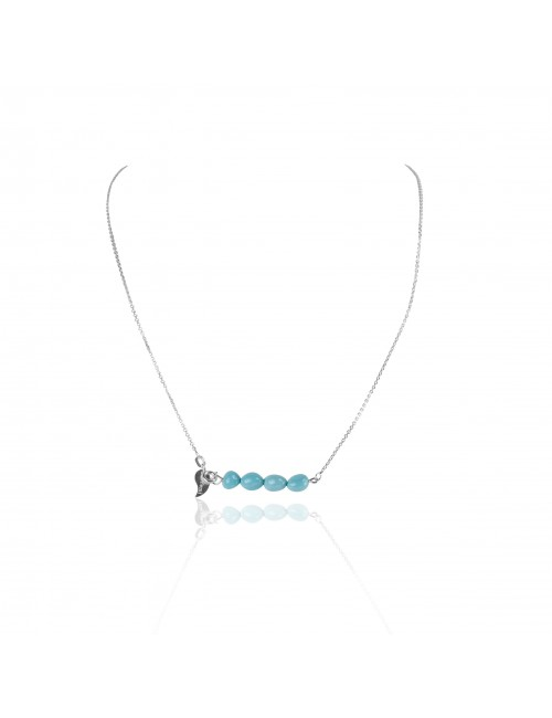 Turquoise bar necklace woman