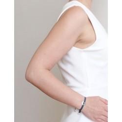 Bracelet médaille ange femme