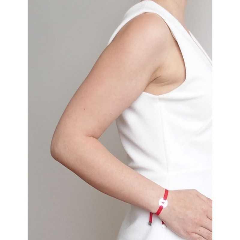 Bracelet médaille coeur femme