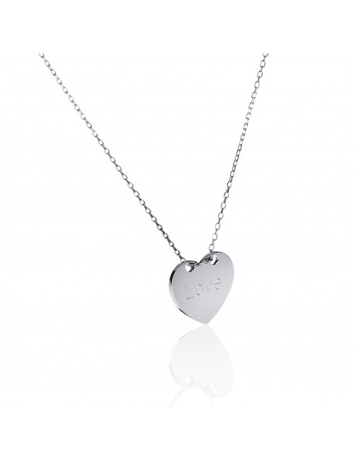 Necklace heart silver personalized woman