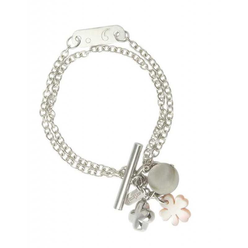 Bracelet trèfle nacre argent personnalisé femme