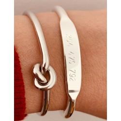 Silver knot bracelet woman