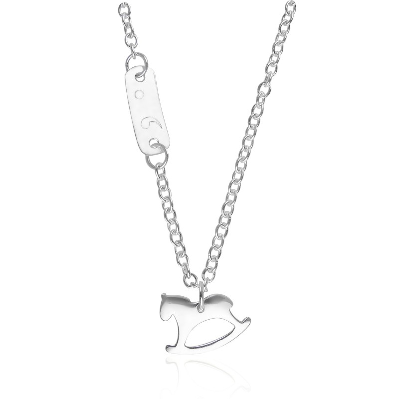 Necklace horse silver personalized child