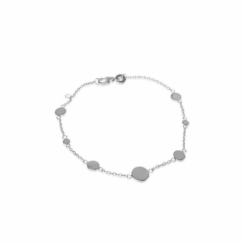 Personalized initial pastille bracelet woman