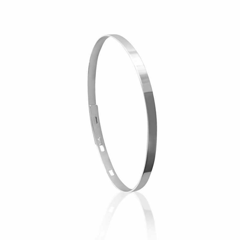 Bangle bracelet personalized silver woman
