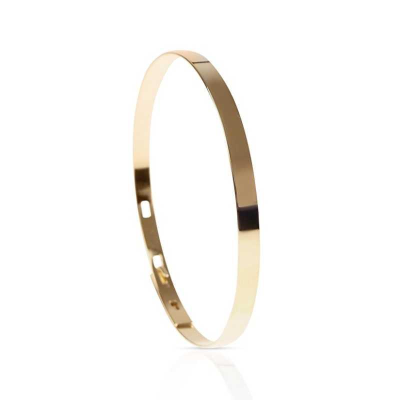 Bangle bracelet personalized in vermeil woman