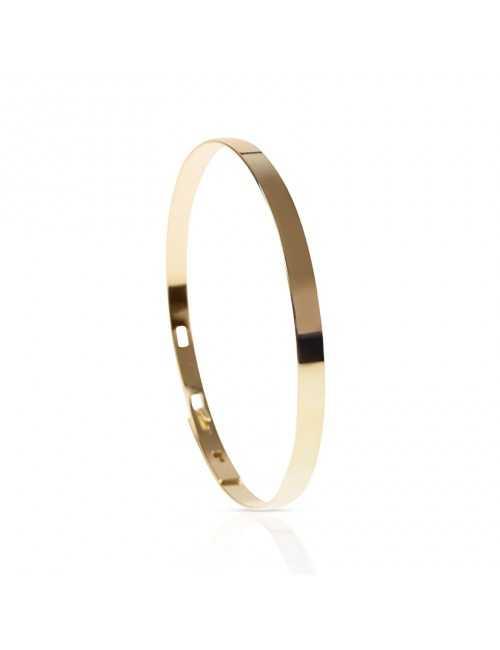 Bracelet jonc personnalisable en vermeil femme