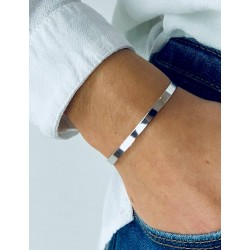 Bangle bracelet personalized silver woman