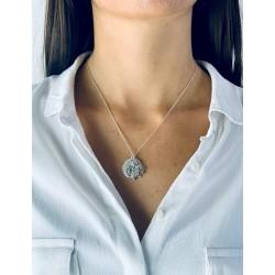 Collier médaille arbre de vie personnalisable femme 20mm