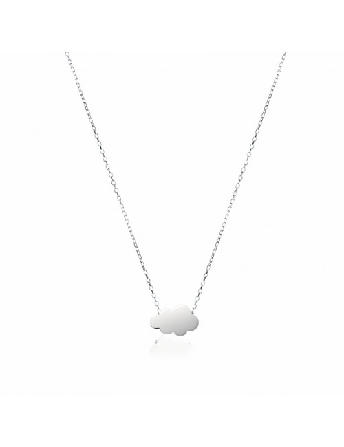 Necklace cloud silver personalized woman