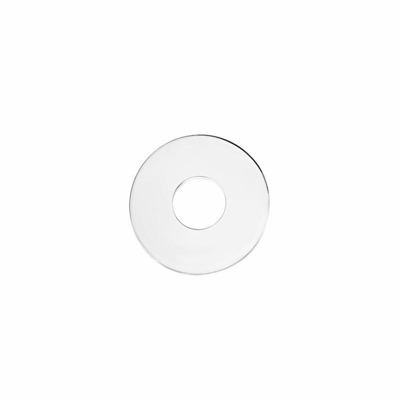 Pendant target engraving silver woman 35mm