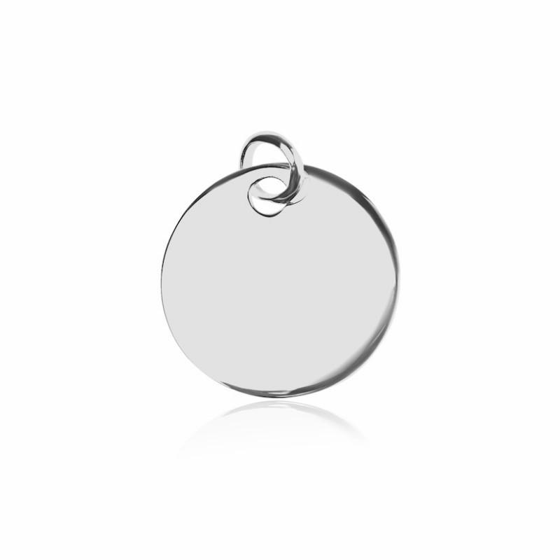 Pendentif médaille argent personnalisé femme 20mm