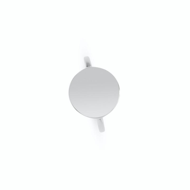 Bague médaille ronde argent personnalisée femme