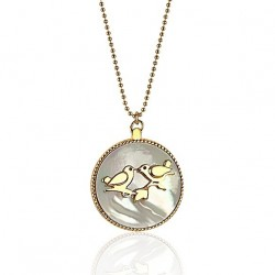 Long necklace medallion lovers