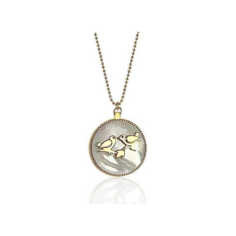 Long necklace medallion woman